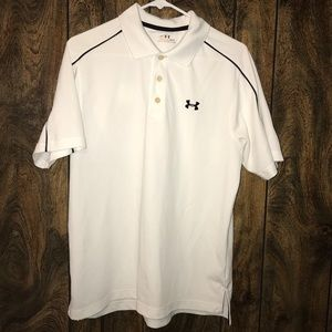 White Under Armour Men's Collared Shirt Size Med